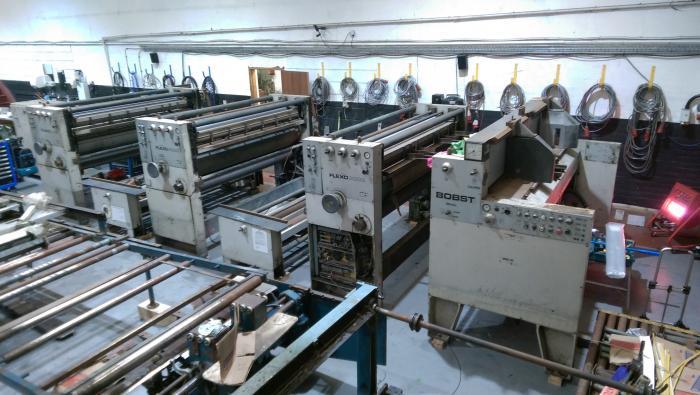Bobst 3 Farben Wellpappe Druckwerkmaschine